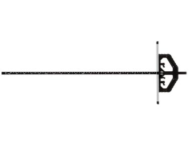 シンワ測定「丸ノコガイド定規 TスライドII 60cm 73714」