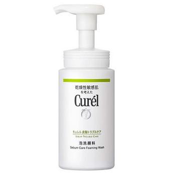 キュレル「皮脂トラブルケア 泡洗顔料」