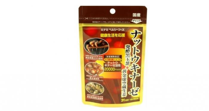 ミナミヘルシーフーズ「ナットウキナーゼ発酵黒玉葱+黄金虚空蔵生姜」