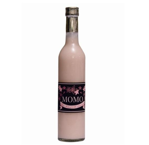 薫長酒造「微発泡性桃色にごり酒 MOMO」