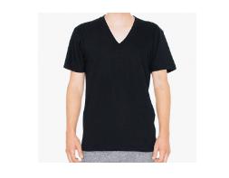 アメリカンアパレル「ファインジャージーVネック半袖Tシャツ」
