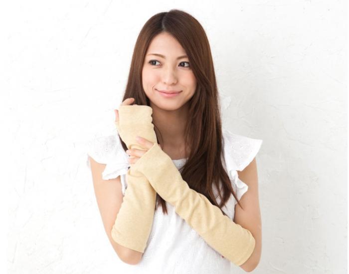 グローブデポ「洛陽染 UV手袋 指なしタイプ」