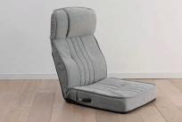 倒れにくいレバー式フルフラット座椅子