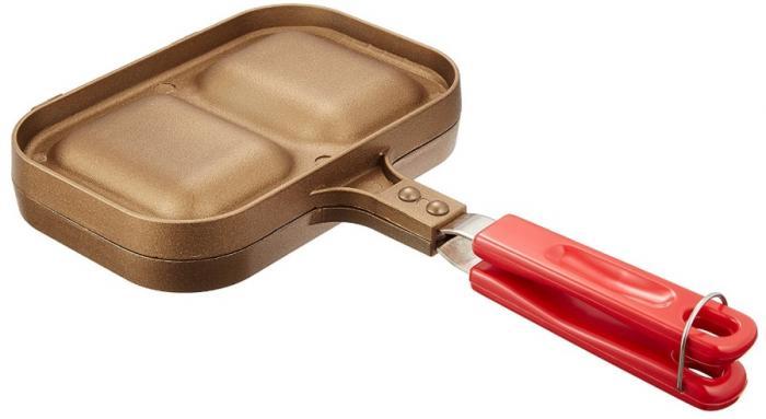 パール金属「カラーリム ふっ素加工ツインホットサンドトースター」