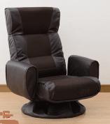 肘掛け付 リクライニング 回転座椅子 WHS-70H