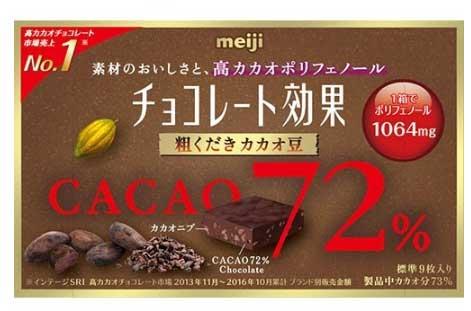 明治「チョコレート効果72%」