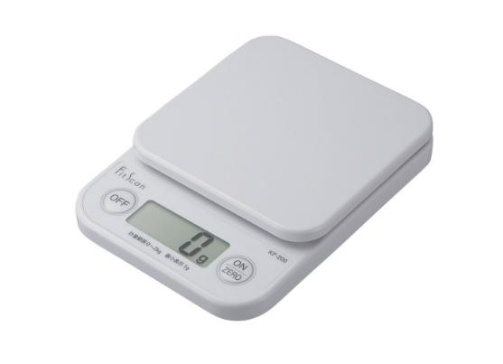 【タニタ】デジタルクッキングスケール フィットスキャン KF-200-WH