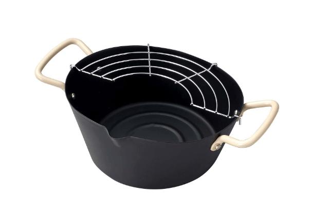 オベ・フラ お弁当用鉄製だ円型両手フライ鍋