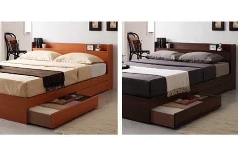 Ever(エバー)「コンセント付き収納ベッド」