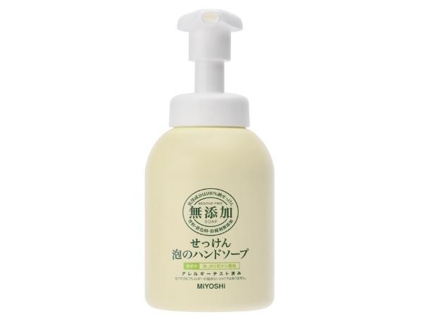 ミヨシ石鹸「無添加せっけん泡のハンドソープ」